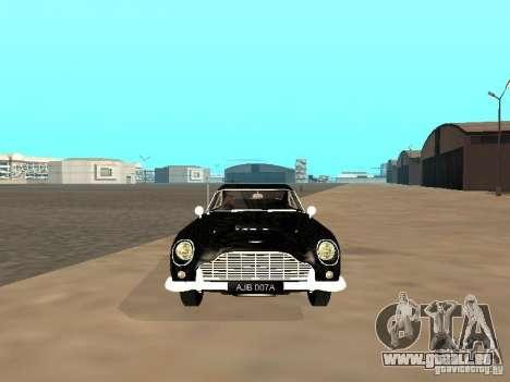 Aston Martin DB5 pour GTA San Andreas vue arrière