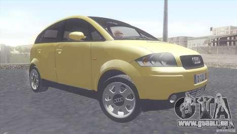 Audi A2 pour GTA San Andreas laissé vue