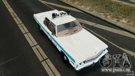 Dodge Monaco 1974 Police v1.0 [ELS] pour GTA 4 est une vue de dessous