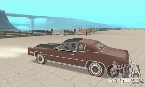 Cadillac Eldorado Biarritz 1978 pour GTA San Andreas vue arrière