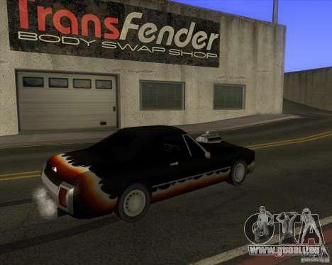 HD Diablo pour GTA San Andreas sur la vue arrière gauche