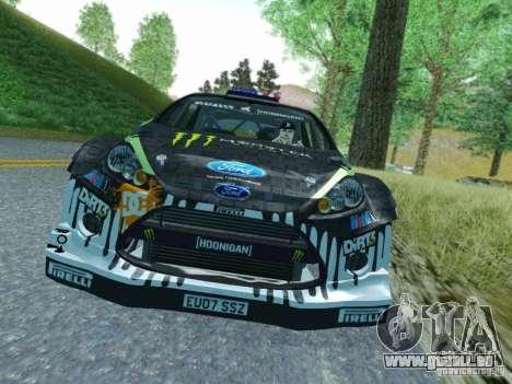 Ford Fiesta Ken Block Dirt 3 pour GTA San Andreas laissé vue