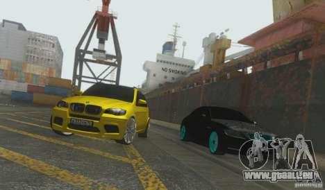 BMW X5M Gold Smotra v2.0 pour GTA San Andreas vue de droite