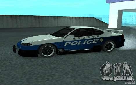 Nissan Silvia S15 Police pour GTA San Andreas laissé vue