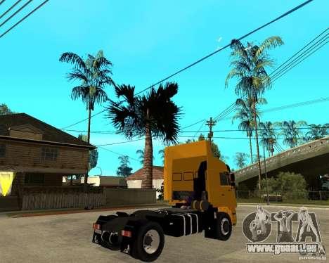 KAMAZ 5460M TAI version 1.5 pour GTA San Andreas sur la vue arrière gauche