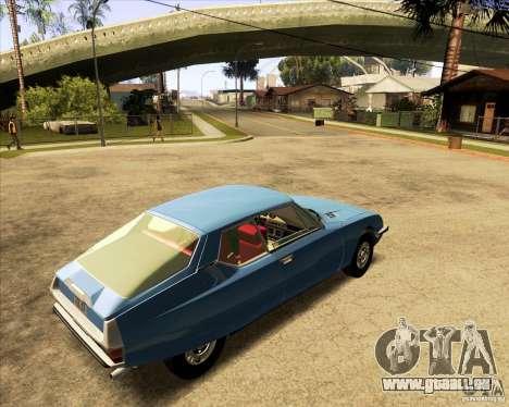 Citroen SM 1971 pour GTA San Andreas laissé vue