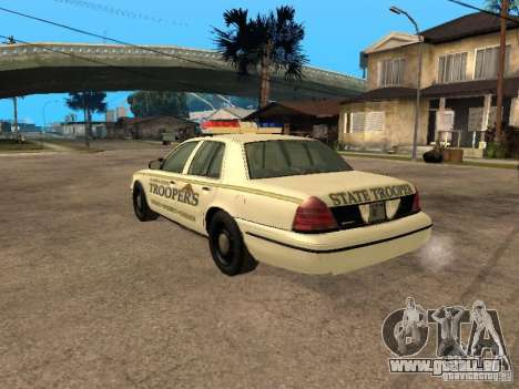 Ford Crown Victoria 2003 Police für GTA San Andreas linke Ansicht