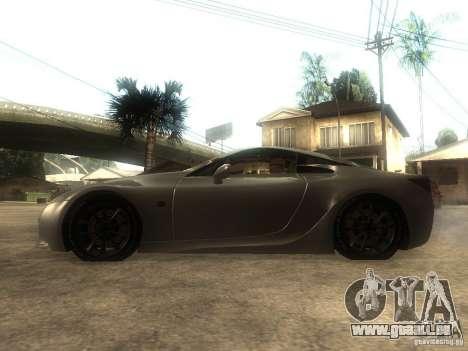 Lexus LFA Custom für GTA San Andreas linke Ansicht
