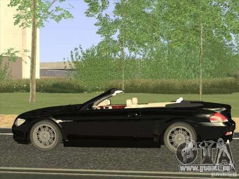 BMW 650I pour GTA San Andreas laissé vue