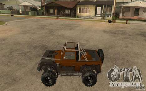 Land Rover Defender Extreme Off-Road für GTA San Andreas linke Ansicht