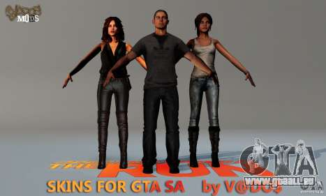 NFS The Run Skins pour GTA San Andreas