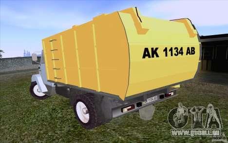 ZIL 4331 Müllwagen für GTA San Andreas rechten Ansicht