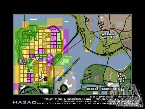San Fierro and Los Santos Gang Zone pour GTA San Andreas deuxième écran