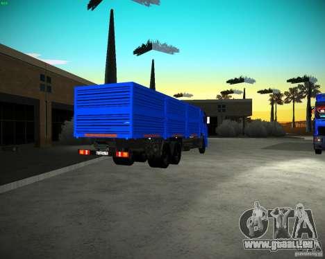 KAMAZ 65117 Grain pour GTA San Andreas sur la vue arrière gauche