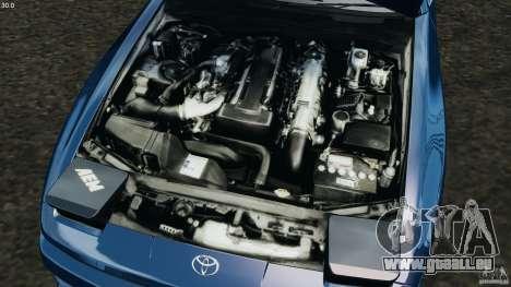 Toyota Supra 3.0 Turbo MK3 1992 v1.0 pour GTA 4 vue de dessus