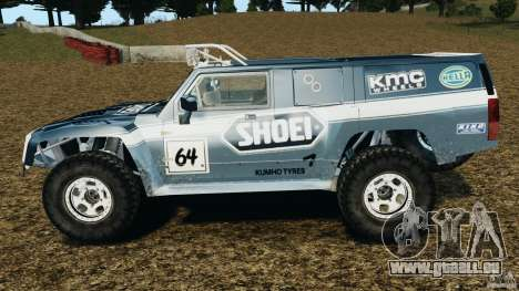 Hummer H3 raid t1 für GTA 4 linke Ansicht