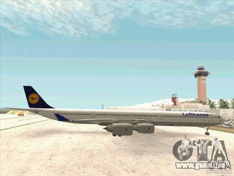 Airbus A-340-600 Lufthansa pour GTA San Andreas laissé vue