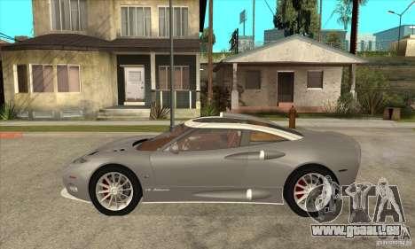 Spyker C8 Aileron für GTA San Andreas linke Ansicht
