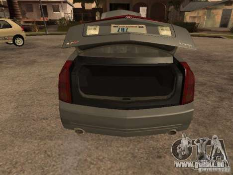 Cadillac CTS-V pour GTA San Andreas vue arrière