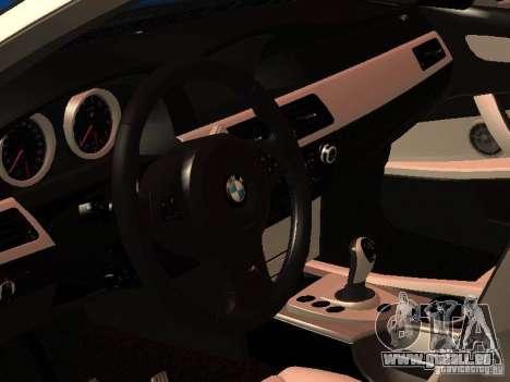 BMW 5-er Police pour GTA San Andreas sur la vue arrière gauche