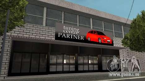 Structure des garages et bâtiments en fo pour GTA San Andreas troisième écran