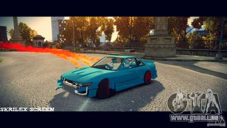 Red smoke under the wheels pour GTA 4