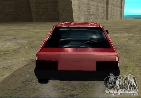 Vaz 2109 chrome pour GTA San Andreas sur la vue arrière gauche