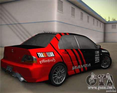 Mitsubishi Lancer Evolution IX Tunable pour GTA San Andreas