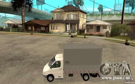 Mercedes-Benz Sprinter Truck für GTA San Andreas linke Ansicht