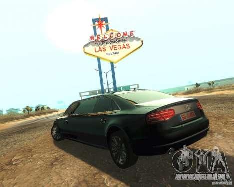 Audi A8 2011 Limo pour GTA San Andreas laissé vue
