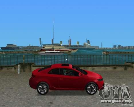 Kia Forte Coupe pour une vue GTA Vice City de la droite