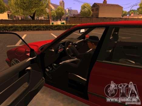 BMW M5 E34 für GTA San Andreas obere Ansicht