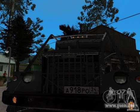 KrAZ 255 + Anhänger artict2 für GTA San Andreas zurück linke Ansicht
