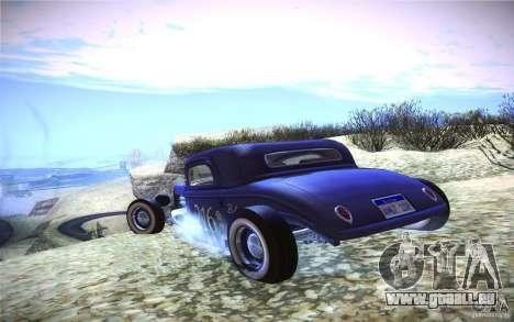 Ford Ratrod 1934 pour GTA San Andreas sur la vue arrière gauche
