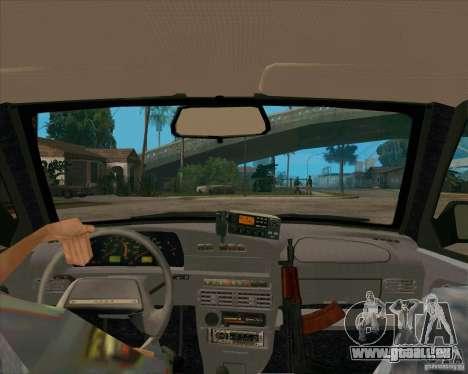 VAZ 2115 DPS pour GTA San Andreas vue intérieure