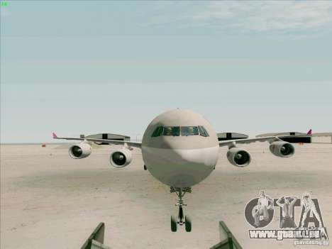 Airbus A-340-600 Quatar für GTA San Andreas Innenansicht