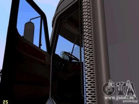 Freightliner Coronado pour GTA San Andreas vue intérieure