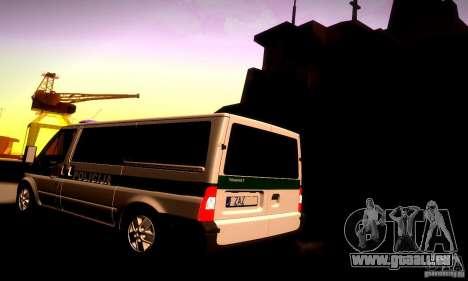Ford Transit Policija für GTA San Andreas zurück linke Ansicht