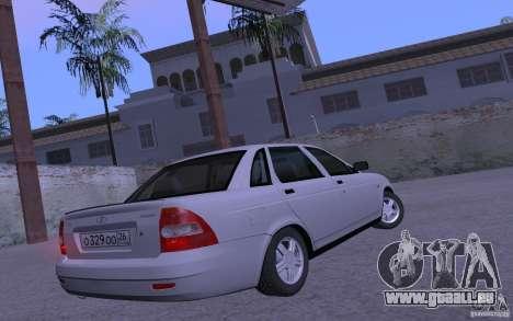 LADA Priora 2170 Pnevmo pour GTA San Andreas sur la vue arrière gauche