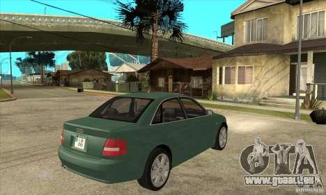 Audi S4 2000 für GTA San Andreas rechten Ansicht