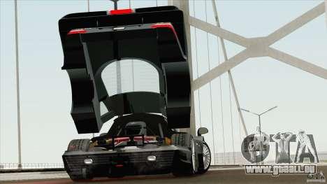 Mercedes-Benz CLK GTR Race Road Version Stock für GTA San Andreas rechten Ansicht