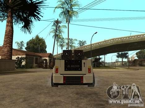 Uaz Cabriolet pour GTA San Andreas sur la vue arrière gauche