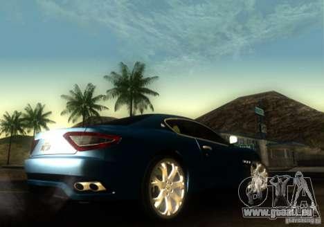 Maserati Gran Turismo für GTA San Andreas zurück linke Ansicht