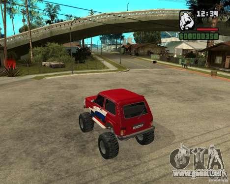 VAZ-21213 4x4 Monster pour GTA San Andreas vue de droite