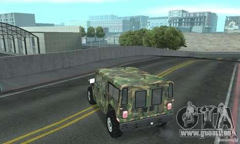 Hummer H1 für GTA San Andreas Räder