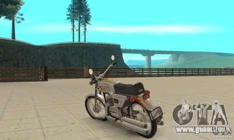 Jawa 350 pour GTA San Andreas sur la vue arrière gauche