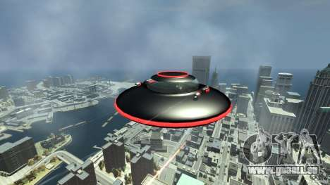 UFO neon ufo red für GTA 4 Rückansicht