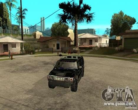 FBI Hummer H2 für GTA San Andreas Seitenansicht