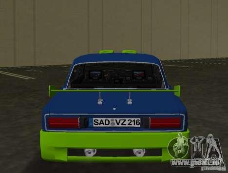 VAZ 2106 Tuning v3.0 pour GTA Vice City vue arrière