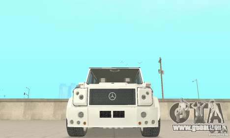 Mercedes-Benz G500 Zailer 2004 pour GTA San Andreas vue intérieure